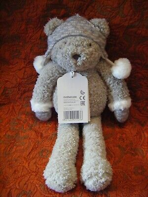 Mothercare ~ Blake the Bear ~ Grey Soft Teddy Comforter Hug Toy ~ BNWT Winter