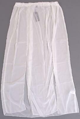 de8417b3ed Boohoo Women's Plus Chiffon Split Beach Maxi Skirt GS2 White Size US:16 NWT