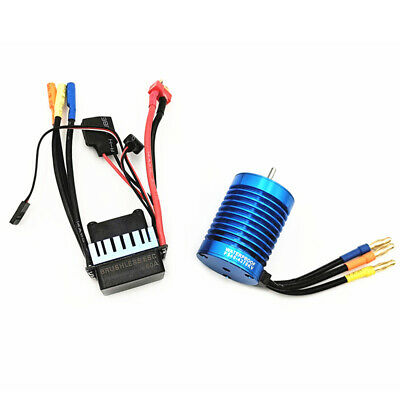 FOR 1/10 RC Racing Car Off-Road Truck 9T 4370KV Brushless Motor+60A