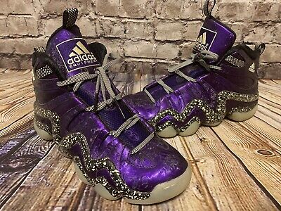 cheaper 94526 28580 Adidas Crazy 8 Nightmare Before Christmas D73959 Purple Glow In The Dark  10.5