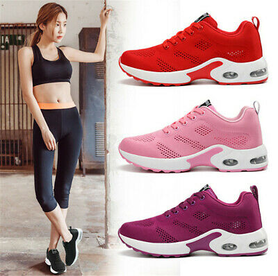 NEW Ladies Running Trainers Womens Shock Absorbing Fitness Gym Sports Shoes Size