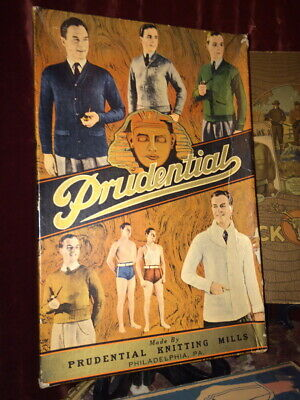 1930's Prudential Men's Sweater/ Swim Suite Box with Elegant Male Imagery