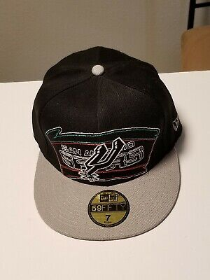 be7791b589f7d9 New Era NBA San Antonio Spurs Hardwood Classics Fitted Hat, Size 7, New