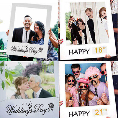 UK 18/30/40/50th 21st Frame Photo Booth Props Wedding Birthday Selfie Tool Party
