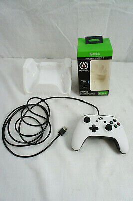 Power A Xbox One / Windows 10 Enhanced White Wired Controller VGC Works In Box