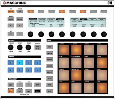 Native Instrument Maschine MK1 Discounted Faceplate Skins on Sale -- mpcstuff