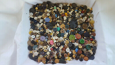 Vtg Antique Collectible Unique Mixed Button Snaps Sewing Lot Mother Of Pearl
