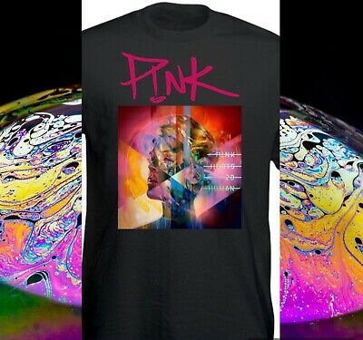 PINK BEAUTIFUL TRAUMA BACK AND FRONT PRINT 2019 TOUR T SHIRTS kids 9/11 UP TO XL