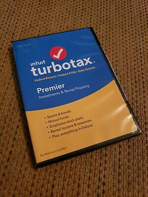 INTUIT TURBOTAX 2009 Premier Edition Federal + State Investments