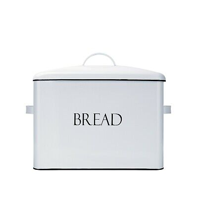 Outshine Vintage Metal Bread Bin Extra Large Bread Storage Box - Good Condition