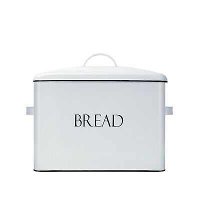 Outshine Vintage Metal Bread Bin XL Bread Storage Box - Functional Condition