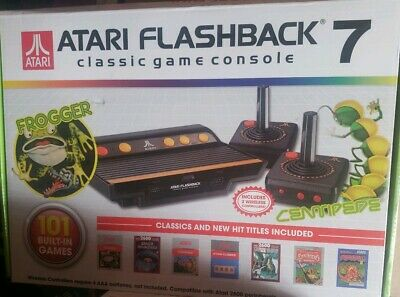 Atari Flashback 7 Classic Game Console 101 Built in Games Excellent Tested