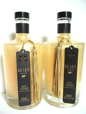 The Scottish Fine Soaps Co. AU LAIT NOIR Bath Essence, 17.5 oz/500 mL, NEW x 2