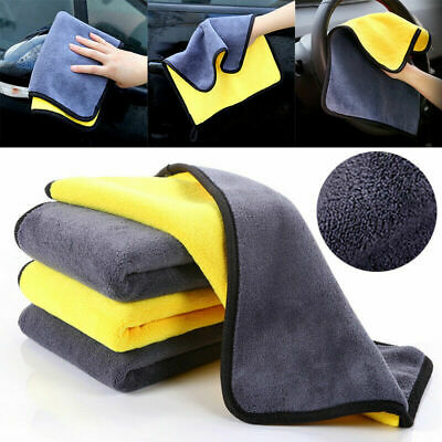 Microfiber Car Wash Towel Super Absorbent Auto Cleaning Drying Hemming Cloth New