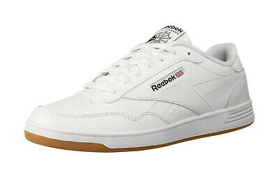 REEBOK Men Shoes Club Memt White Black Gum Bottom Leather Memory Tech