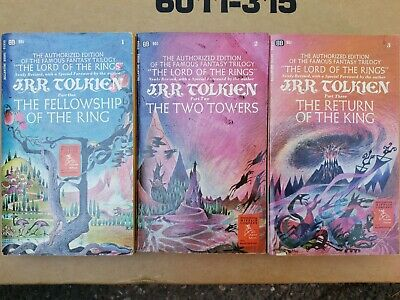 Rare JRR Tolkien 1st PB Printing Lot 1965 Lord of the Rings Trilogy 1-3