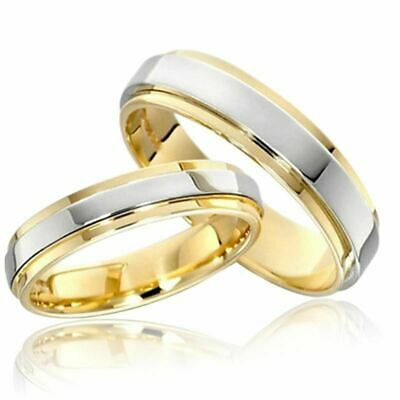 Couple Rings 316L Stainless Steel Gold Plating Engagement Jewelry Band Ring Gift
