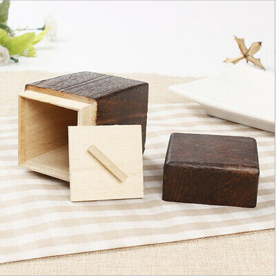Japanese Style Handmade Wood Tea Box Caddy Wooden Tea Canister Tea Jar W/Lid
