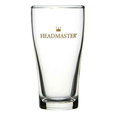 Crown Commercial Crowntuff Conical Headmaster Beer Glass 285mL Middy Nucleated
