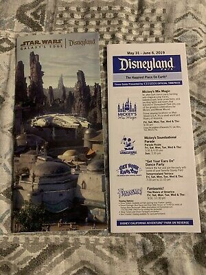 Disneyland Star Wars Galaxy's Edge Opening- Day 1-park map special brochure 2019