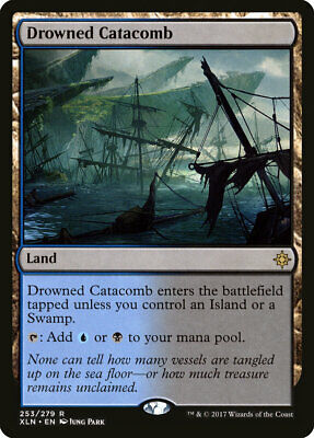 Drowned Catacomb x 1 NM/LP Ixalan Rare Land MTG Investments