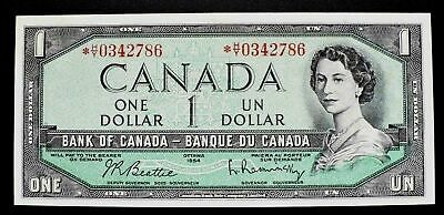 1954 BANK OF CANADA $1 Dollar Replacement Note  *H/Y 0342786  BC-37bA