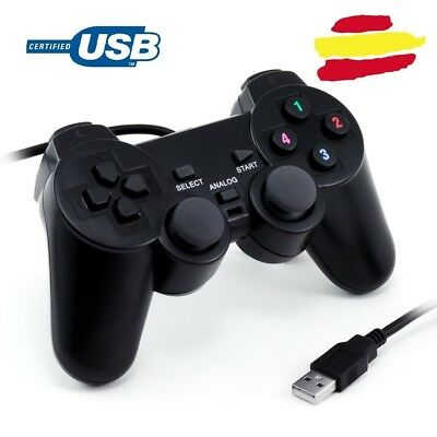 Mando compatible para PC ordenador portatl gaming vibracion tipo play PS USB 2.0