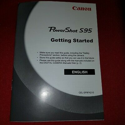 Canon Powershot S95 Getting Started. English.