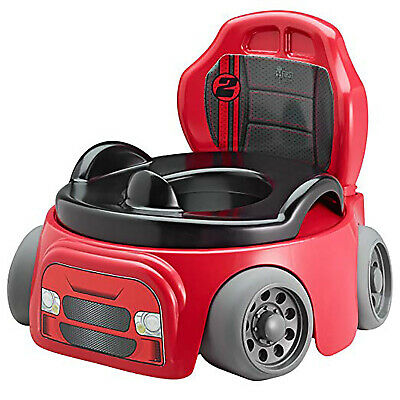 CAR RACER POTTY TRAINING Boys Kids Baby Toddler Toilet Seat Wheels Race Chair