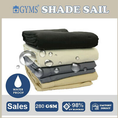 Special Premium Multi-size Waterproof EXTRA HEAVY DUTY SUN SHADE SAIL 4+Color