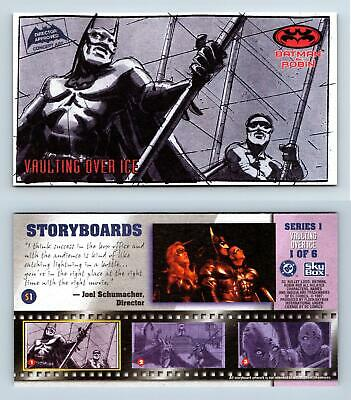 Storyboards #S1 Series 1 Vaulting Over Ice 1/ 6 Batman & Robin Widevision Card