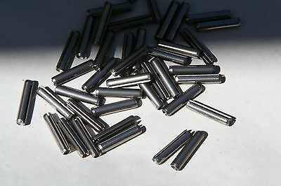 "20 Pieces   1/16 X 1/2"" Thru 1""   18-8 Stainless Steel Spring Pins  -  Roll Pin"