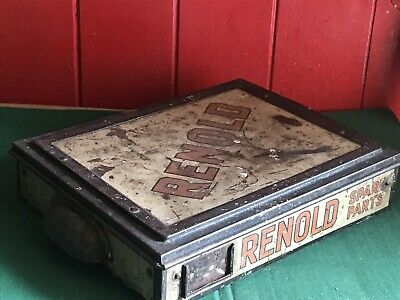 Rare Vintage 1920's Renold-Coventry Motor. bike Chain Spare Parts Tin