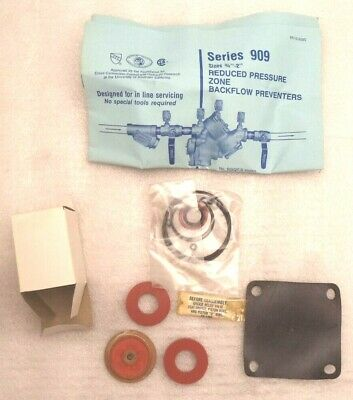 Watts Backflow Preventer Series 909 RPZ Complete Valve Rubber Parts Kit 881321