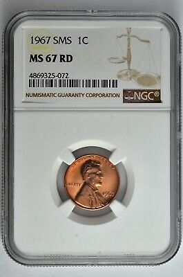 1967 SMS 1C Lincoln Memorial Cent NGC MS 67 RD