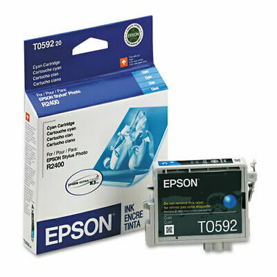 NO BOX NEW Genuine Epson T0592 Cyan Ink Cartridge Stylus R2400