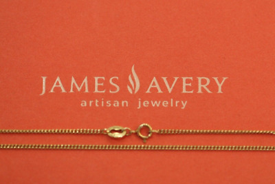 "James Avery 14k Yellow Gold 16"" Fine Cable Chain 1.3mm"
