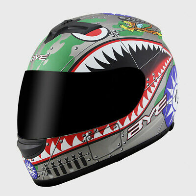 Full Face Motorcycle Motorbike Helmet w/Sun Visor Street Racing Bike Scooter