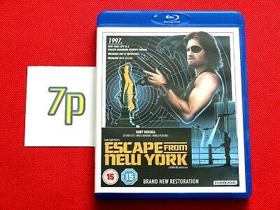 Escape From New York (BLU-RAY, Remastered/Restrored Edition) ✔️ VGC