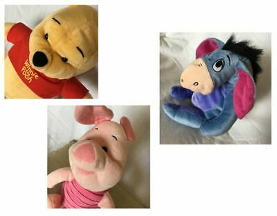 Free Post Piglet /& Eeyore 10cm Plush Zip Coin Purse Disney Minnie 12cm Stitch