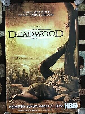 Deadwood Season One Original 27X40 HBO Promotional Poster 2004 Extremely Rare!