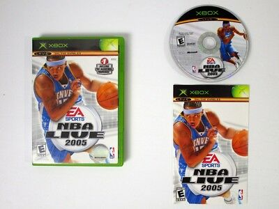 NBA Live 2005 game for Microsoft Xbox -Complete