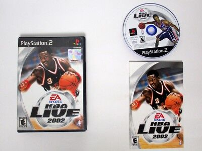 NBA Live 2002 game for Sony Playstation 2 PS2 -Complete