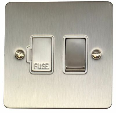 G/&H CSB27B Standard Plate Satin Brass 1 Gang Fused Spur 13A Switched /& Neon