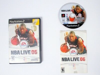 NBA Live 2006 game for Sony Playstation 2 PS2 -Complete