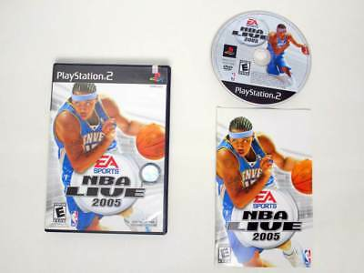 NBA Live 2005 game for Sony PlayStation 2 -Complete