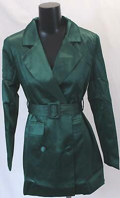 e34cf0c9cf8c Nasty Gal Women's Taking Care Of Business Satin Dress GS2 Green Size US:6  NWT