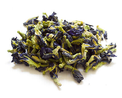 Dried Butterfly Pea Flowers, Clitoria ternatea Blue Gin Craft Resin Candle Tea