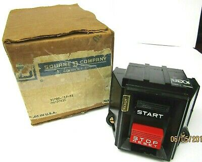 Square D Manual Motor Starter Push Button STOP 3 POLE NEW IN BOX