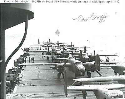 JIMMY DOOLITTLE RAID B-25 USS HORNET LAUNCH WWII 8x10 SILVER HALIDE PHOTO PRINT